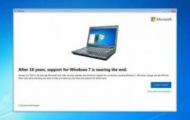 Microsoft начала уведомлять пользователей о прекращении поддержкиWindows 7