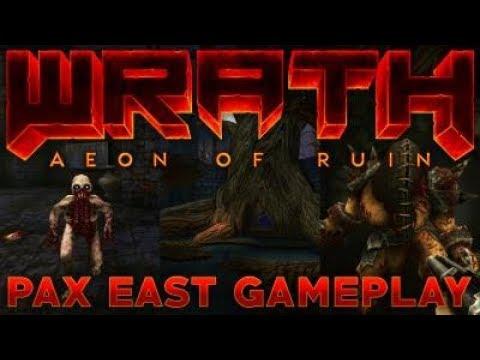 22 минуты кровавого игрового процесса ретро-шутера WRATH Aeon of Ruin