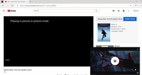 ВGoogle Chrome и Microsoft Edge можно отключать звук в режиме«картинка в картинке»