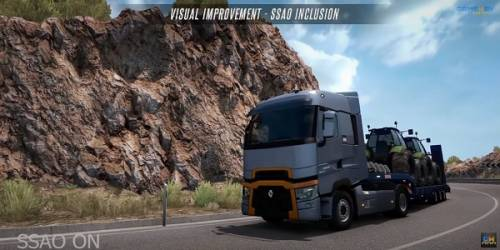 В Euro Truck Simulator 2 добавили SSAO — сравнение графики