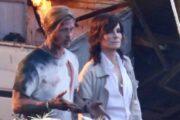 Появились первые фото Брэда Питта и Сандры Буллок на съёмках «Скоростного поезда»